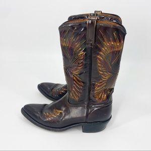 VTG 70s ACME Western Boots Cowboy Leather Phoenix
